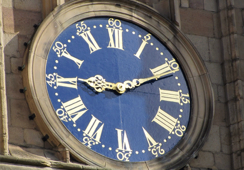 Derby-Cathedral-clock